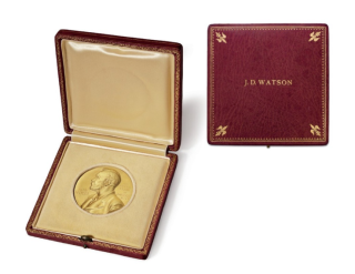 Watson's Nobel Prize medal.