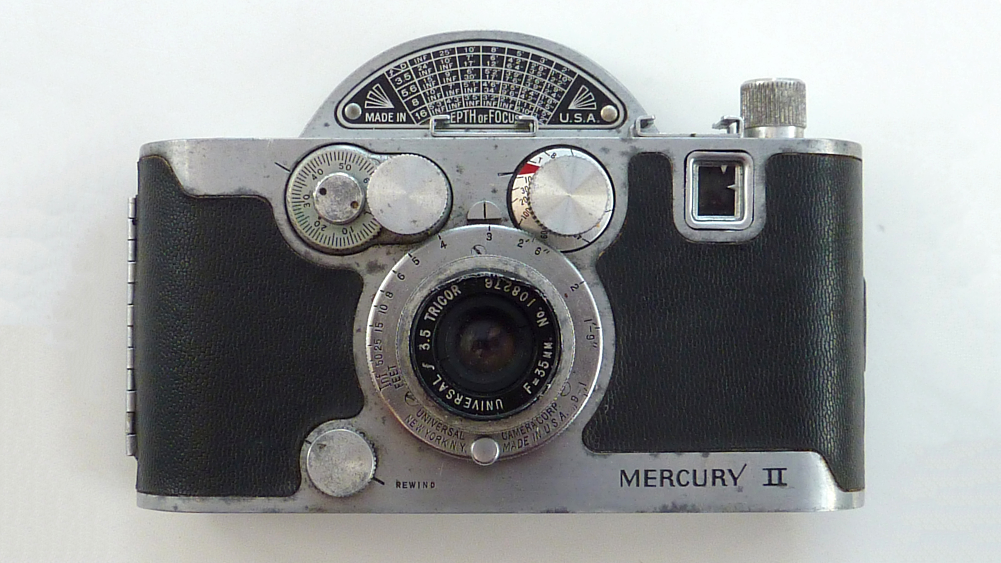 The front of the Mercury II camera