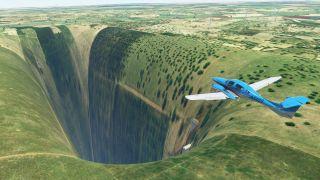 Microsoft Flight Simulator chasm brazil