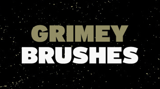 free Photoshop brushes: grime