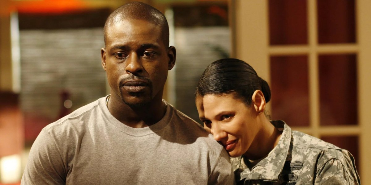 Sterling K. Brown and Wendy Davis on Army Wives