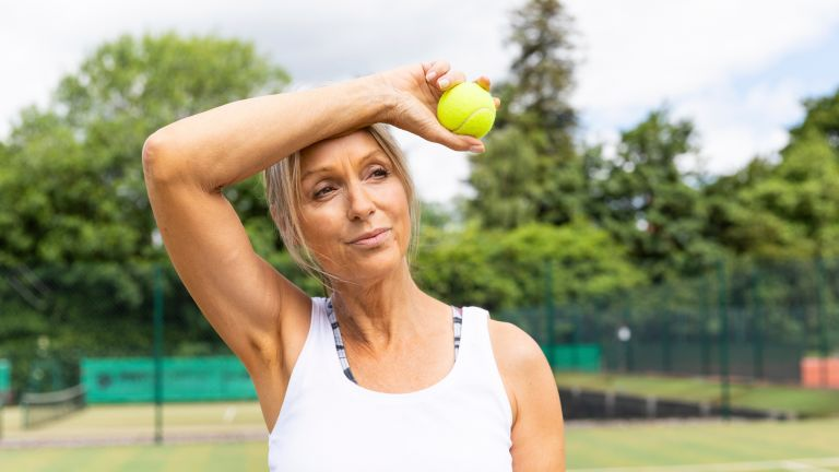 Active woman benefitting from the best menopause supplements