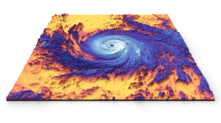 NASA will design a new Earth System Observatory to better study Earth and climate change. This 2017 thermal image was captured by NASA's Terra satellite.