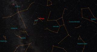 Vega's Location in Lyra