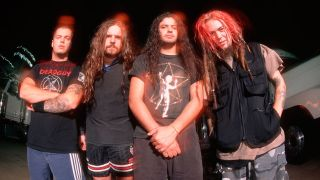 A photograph of Sepultura including Max Cavalera taken in 2000
