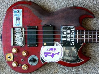 Mike Watt's 1963 Gibson EB-3 bass: hopefully it will soon return to its rightful owner