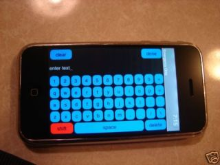 The iPhone with a landscape QWERTY keyboard