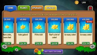 Plants vs Zombies microtransactions