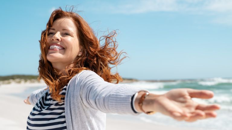 woman outside for how to breathe better