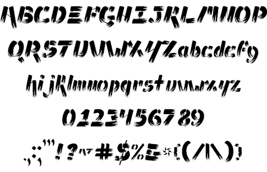 Free brush font: Ampad Brush