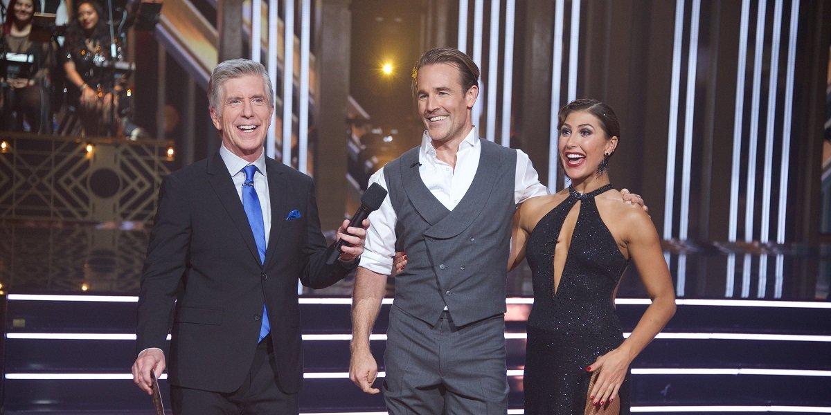 Dancing with the Stars Season 28 Host Tom Bergeron James Van Der Beek Emma Slater ABC
