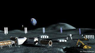 ASD Lunar Polar Mining Base
