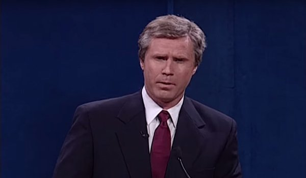 "Will Ferrell as President George W. Bush saying ""strategery"" on Saturday Night Live"