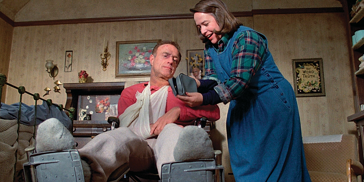 James Caan and Kathy Bates in Misery