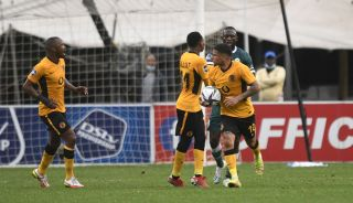 Keegan Dolly of Kaizer Chiefs celebrates his goal