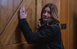 Harriet Finch Harriet is frightened in Emmerdale