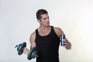 weightlifter with beer