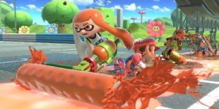 An Inkling goes ham in Smash Bros.