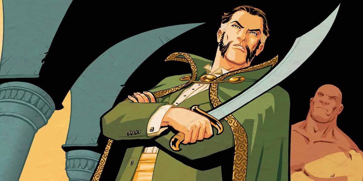 Ra's al Ghul holding sword DC Comics