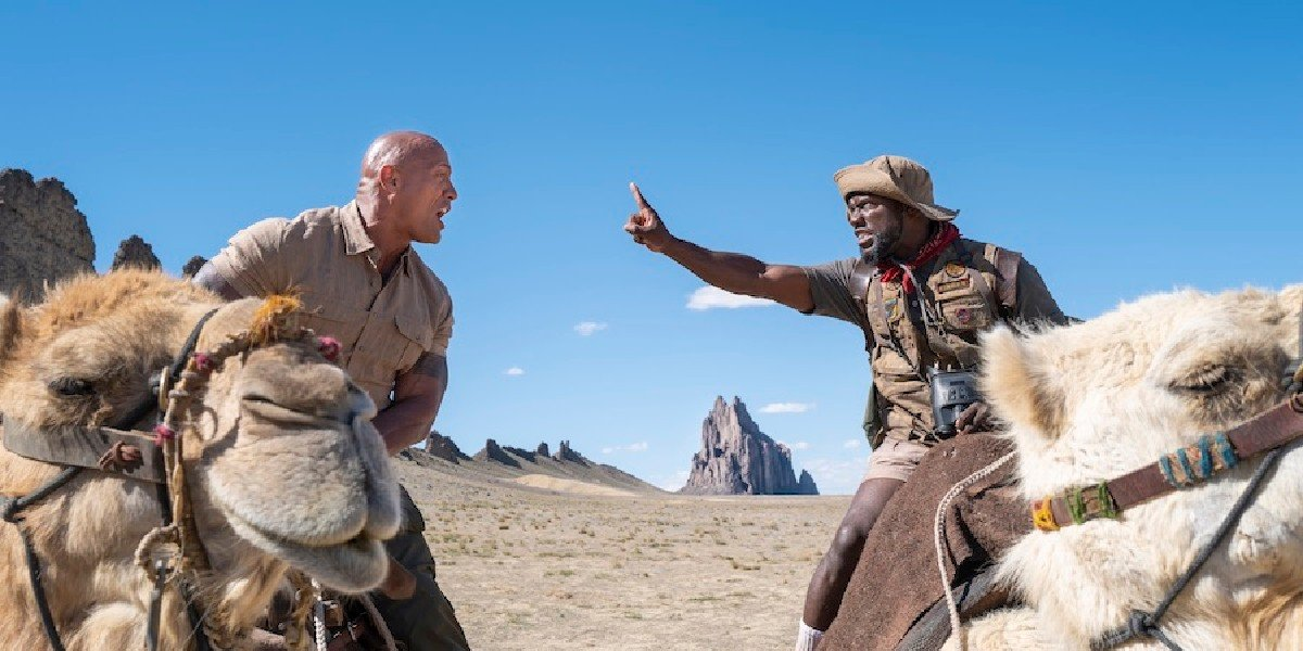 Dwayne Johnson and Kevin Hart in Jumanji The Next Level