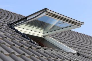 Exterior open rooflight