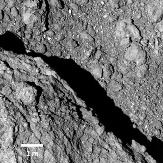 Ryugu asteroid surface