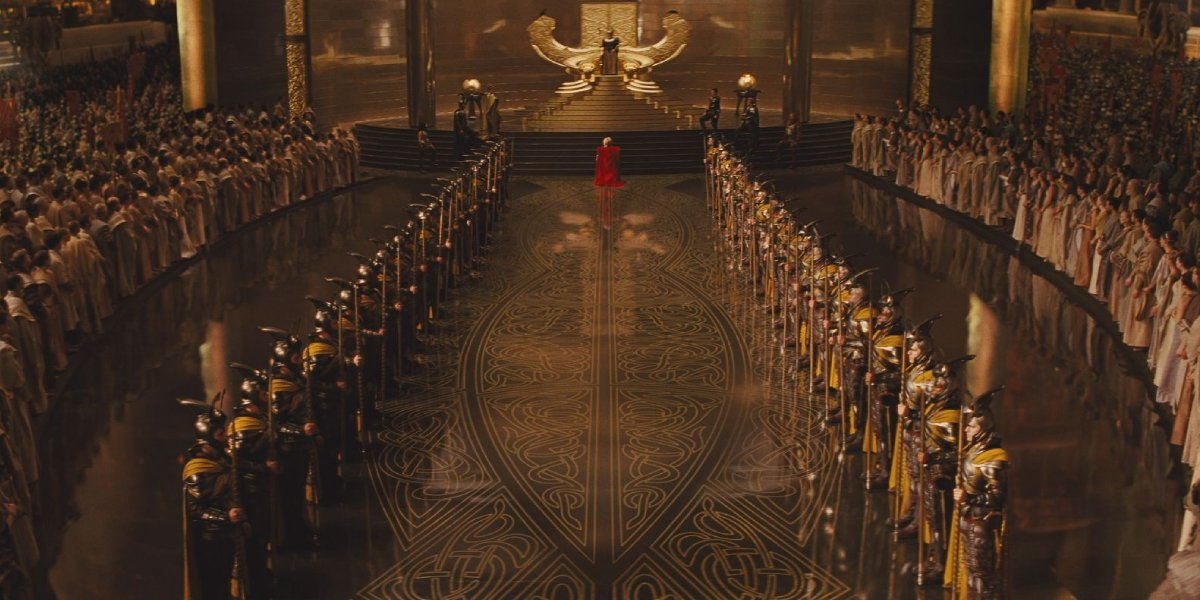 Asgard's throne room from Thor
