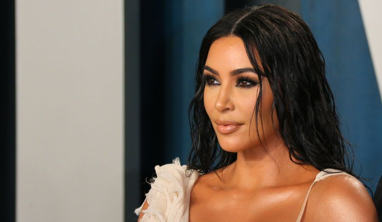 US media personality Kim Kardashian attends the 2020 Vanity Fair Oscar Party following the 92nd Oscars at The Wallis Annenberg Center for the Performing Arts in Beverly Hills on February 9, 2020.