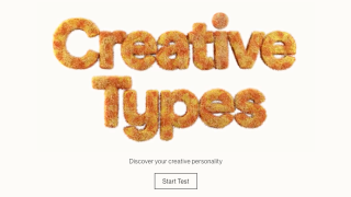 Creative Types landing page