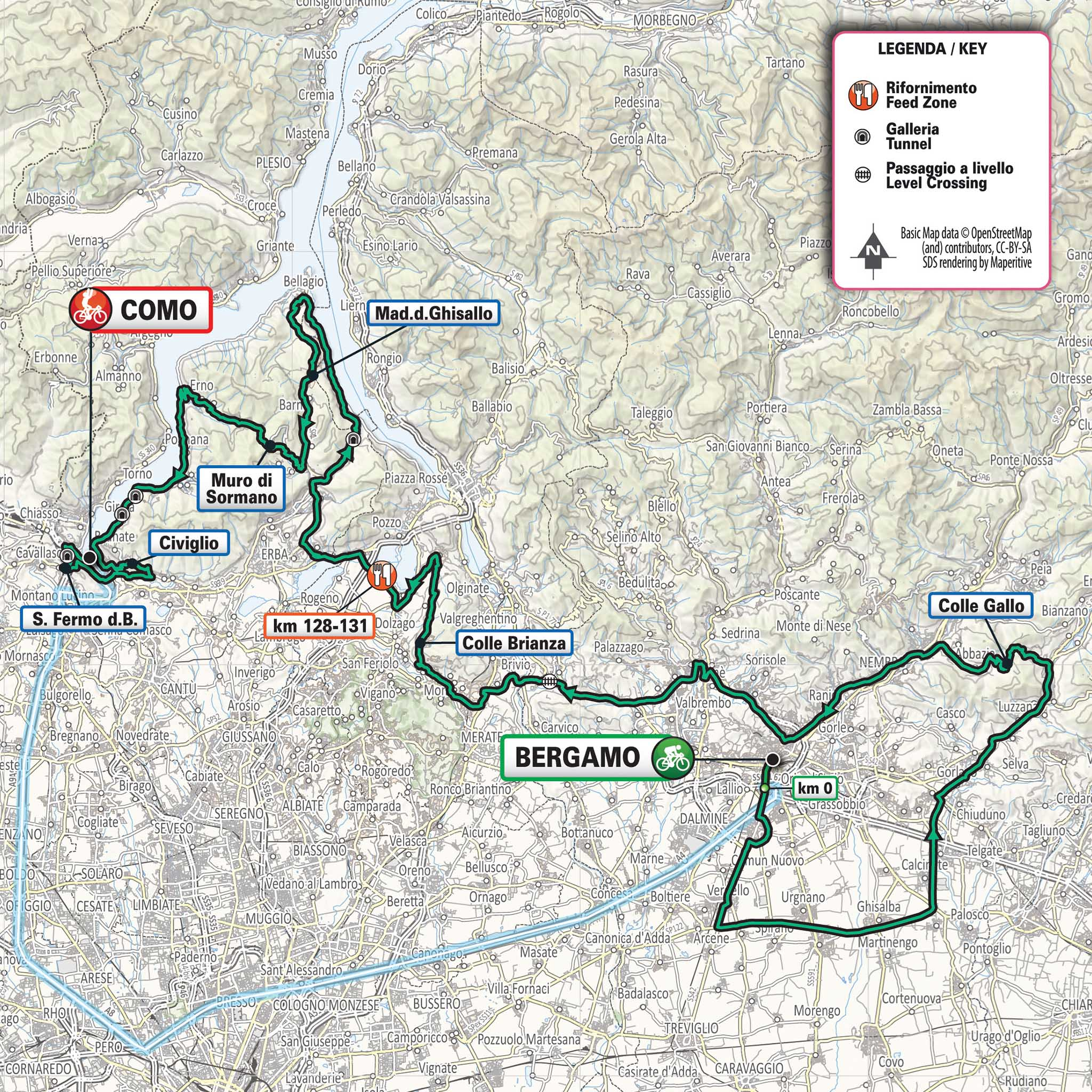 The lay of the land of the 2020 edition of Il Lombardia.