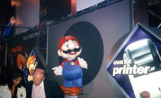 Mario statue from E3 1998