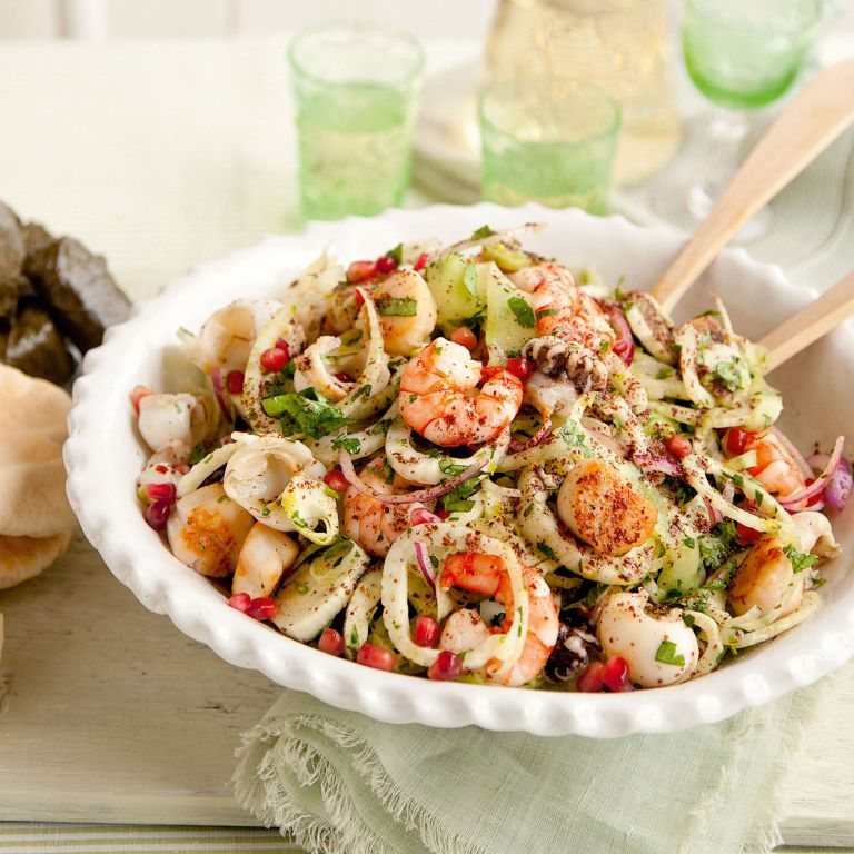 Seafood and fennel salad recipe-Seafood recipe-recipe ideas-new recipes-woman and home