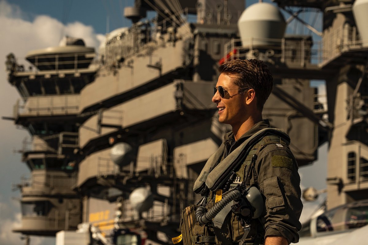 Glen Powell in Top Gun: Maverick
