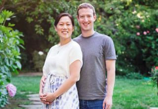 Mark Zuckerberg and his wife, Priscilla Chan