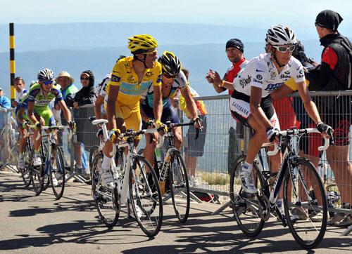 Andy Schleck, Alberto Contador, Lance Armstrong, Tour de France 2009, stage 20