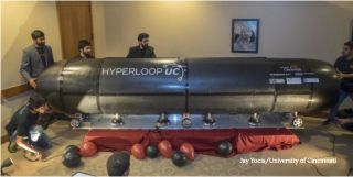 University of Cincinnati's Hyperloop pod prototype