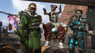 Apex Legends Battle Royale Kings Canyon Caustic Lifeline Mirage Trio Team Squad