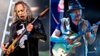Kirk Hammett will guest on new Carlos Santana record