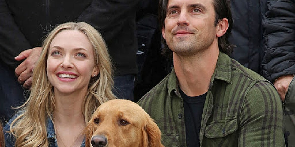 Amanda Seyfried as Eve with her co-star Milo Ventimiglia in The Art of Racing in the Rain.