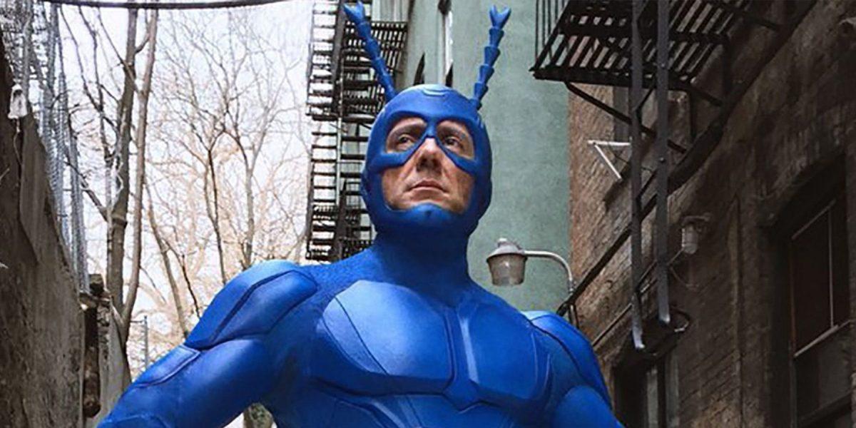 The titular superhero in The Tick on Amazon Prime.