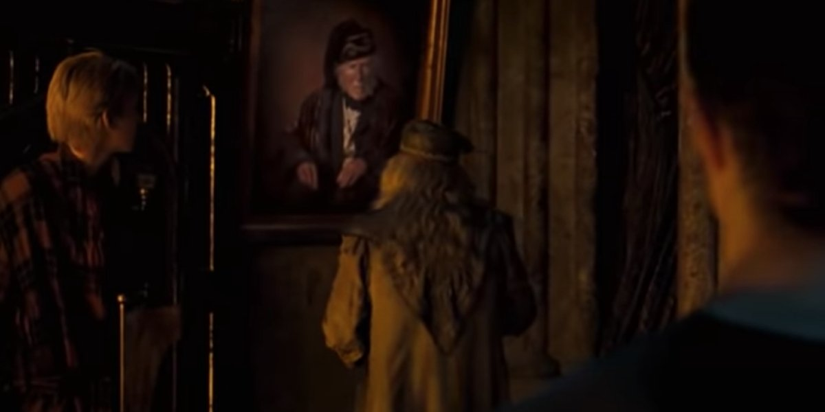 Dumbledore talks to Phineas Black in Harry Potter and the Order of the Phoenix