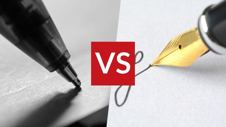 Ballpoint vs fountain pens
