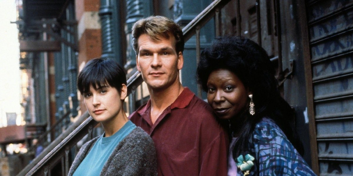 Patrick Swayze, Demi Moore, and Whoopi Goldberg in Ghost