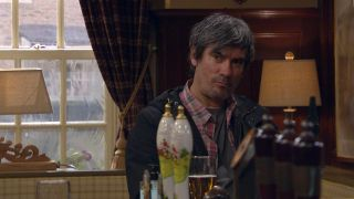 Cain is suspicious in Emmerdale