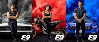 F9 The Fast and The Furious 9 cast posters with Vin Diesel, Michelle Rodriguez and John Cena