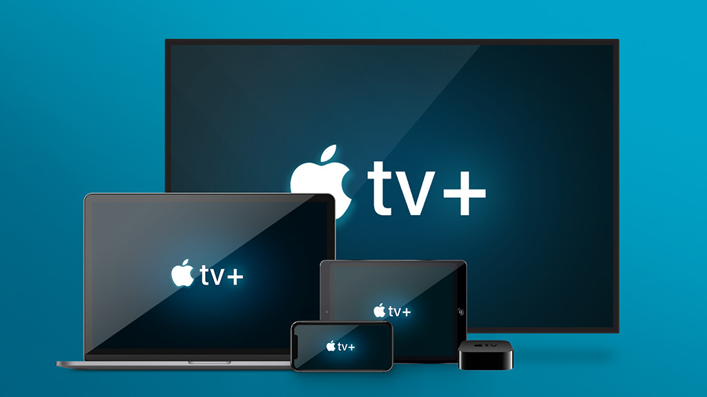Apple TV Plus devices (smartphone, laptop, tablet, TV)