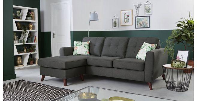 DFS corner sofa: Quintana: 4 Seater Lounger