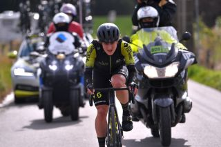 LIEGE BELGIUM OCTOBER 04 Grace Brown of Australia and Team Mitchelton Scott during the 4th Liege Bastogne Liege 2020 Women Elite a 135km race from Bastogne to Liege LBL LBLwomen classiquesardennes on October 04 2020 in Liege Belgium Photo by Luc ClaessenGetty Images