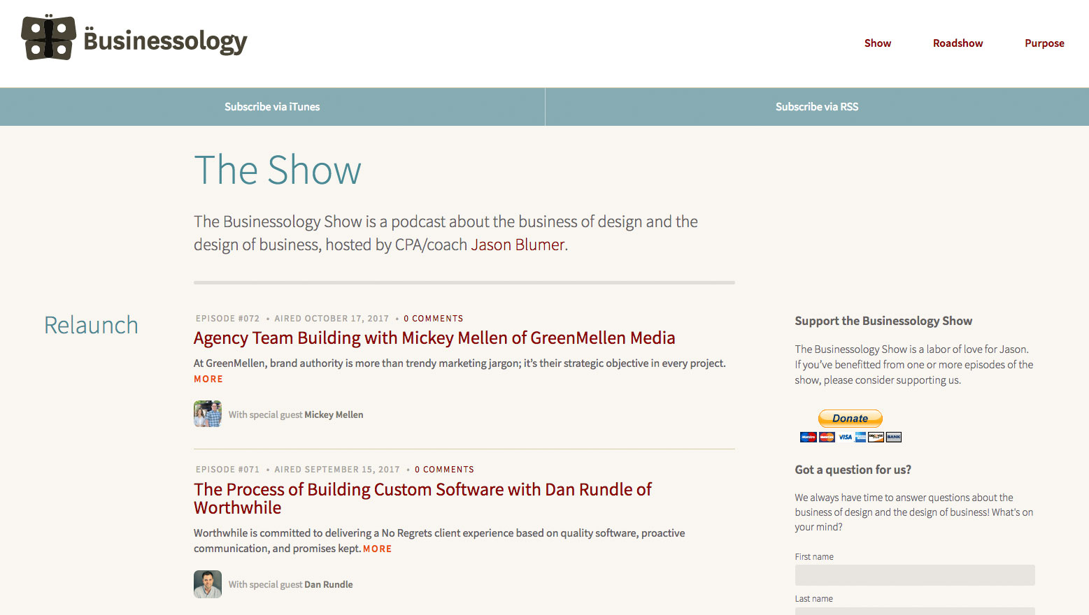 Web design podcasts: The Businesssology show