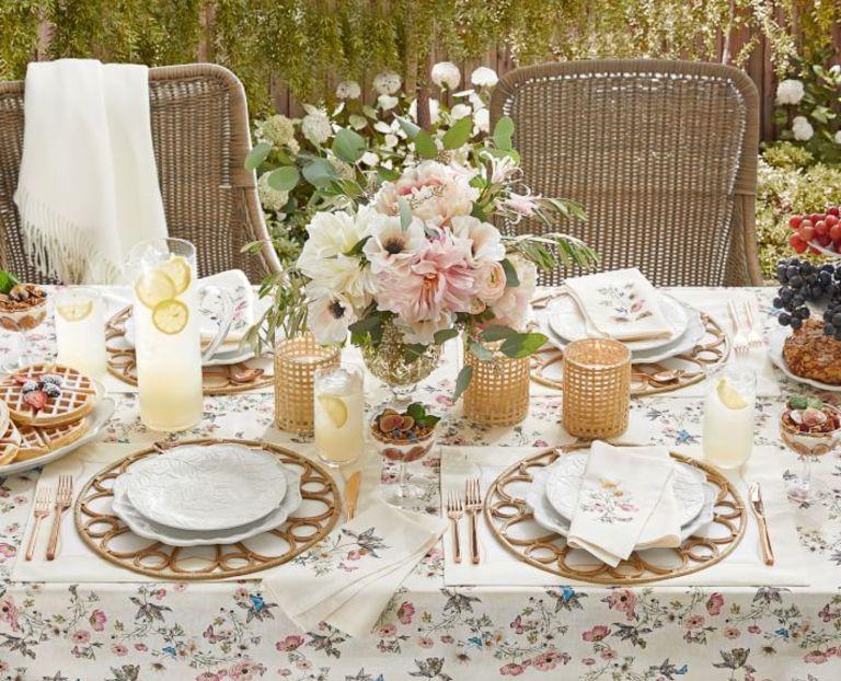 Monique Lhuillier for Pottery Barn garden table setting